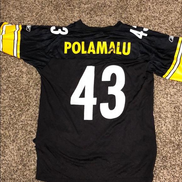 the best attitude ad63a 2f1c2 🏈🖤NFL Steelers Reebok jersey POLAMALU #43 size L